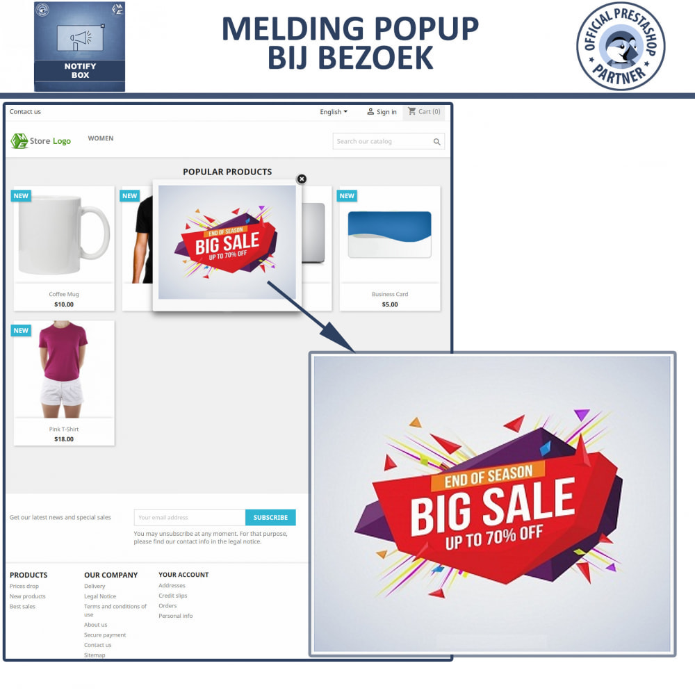 module - Dialoogvensters & Pop-ups - Pop-up Promo en Melding - 7