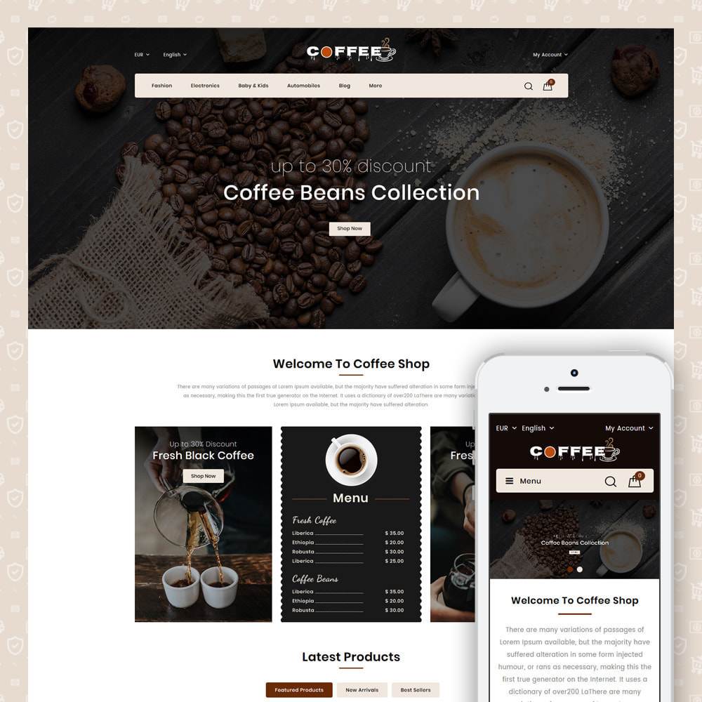 theme - Lebensmittel & Restaurants - Fresh Coffee Shop - 1