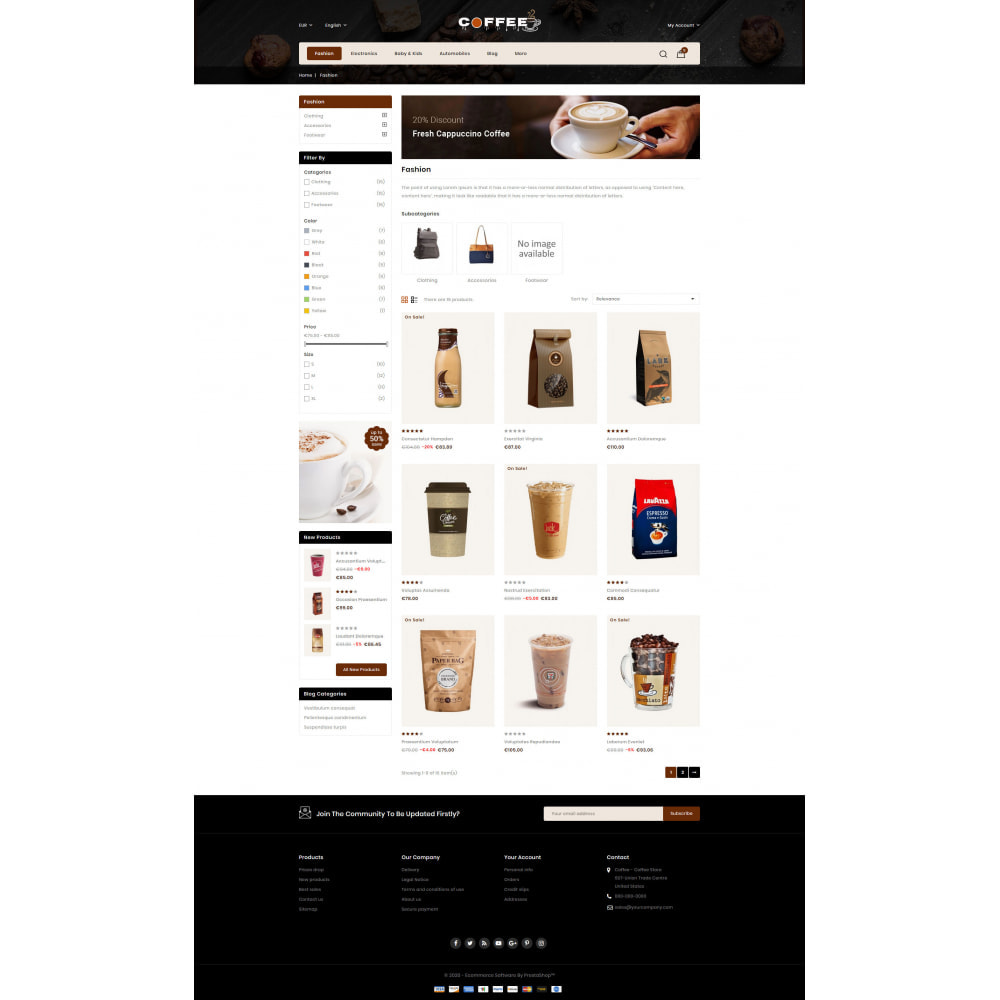 theme - Cibo & Ristorazione - Fresh Coffee Shop - 3