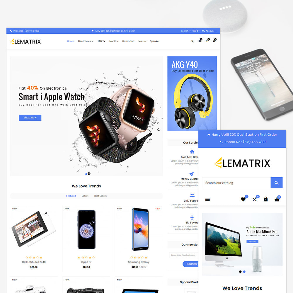theme - Electronique & High Tech - Ele Matrix – Electronic and Accessories Store - 1