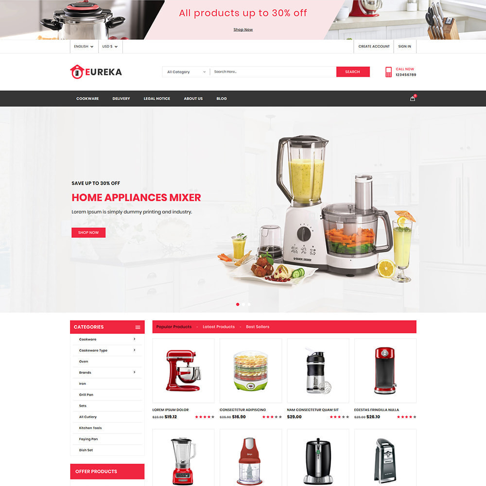 theme - Electrónica e High Tech - Eureka Home Appliances Shop - 2