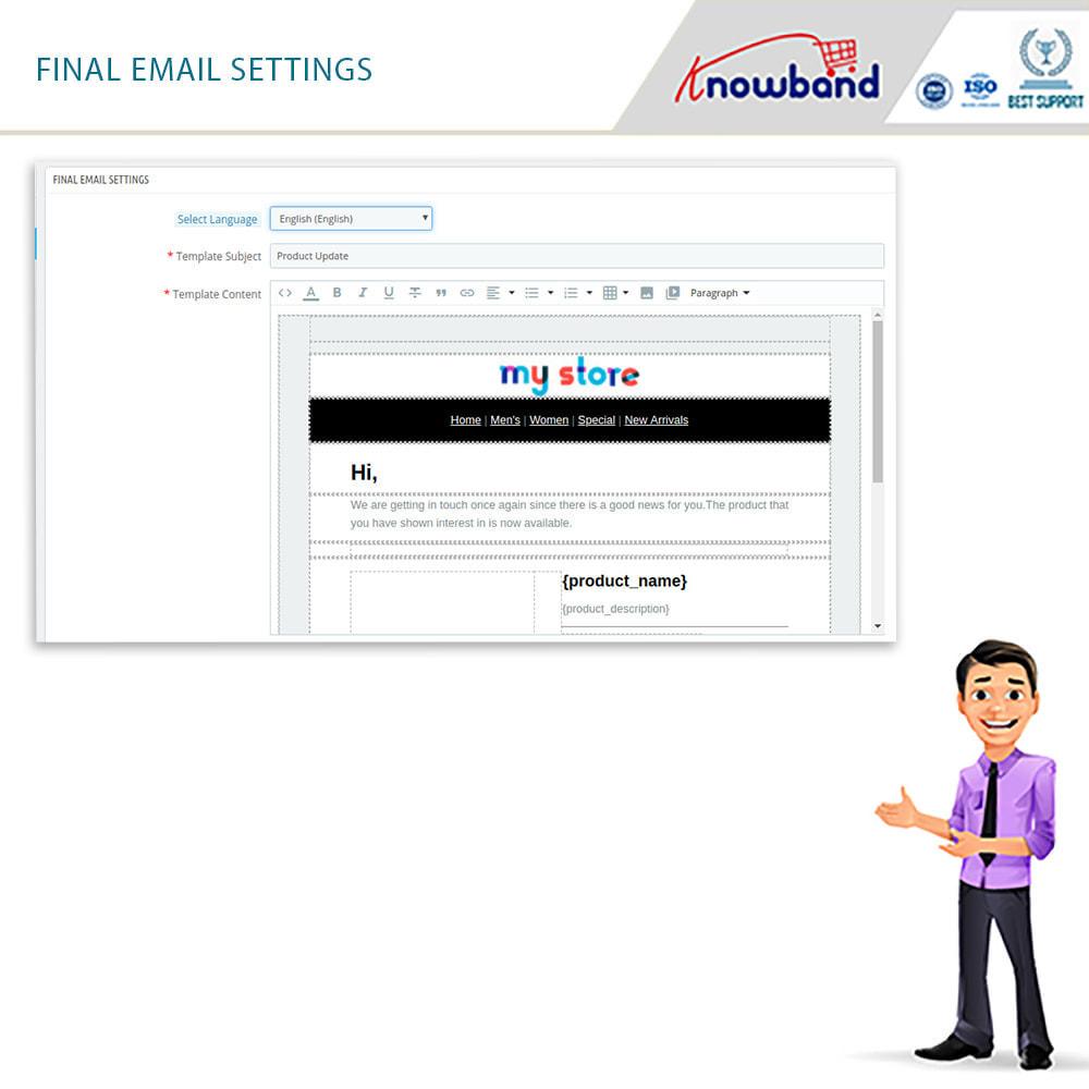 module - E-mails y Notificaciones - Knowband - Notificación De Nuevo En Inventario - 6