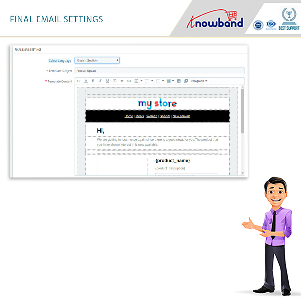 module - E-mails y Notificaciones - Knowband - Notificación De Nuevo En Inventario - 11