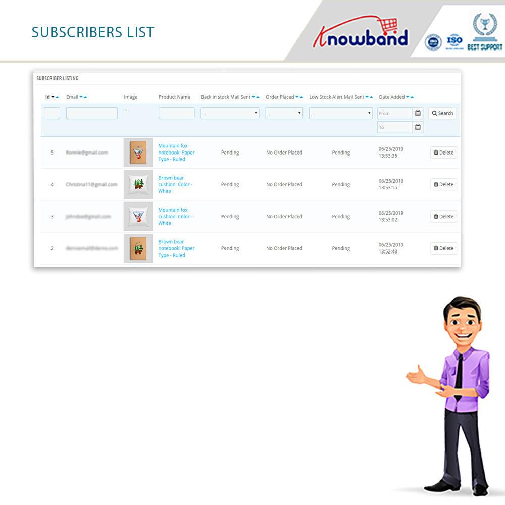 module - E-mails y Notificaciones - Knowband - Notificación De Nuevo En Inventario - 7