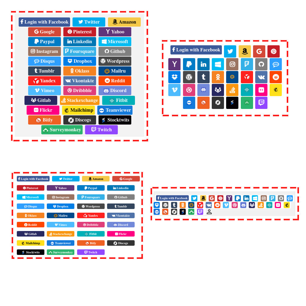 module - Módulos de Botões de Login & Connect - Social Logins 35 in 1, Discounts, MailChimp, Statistics - 9