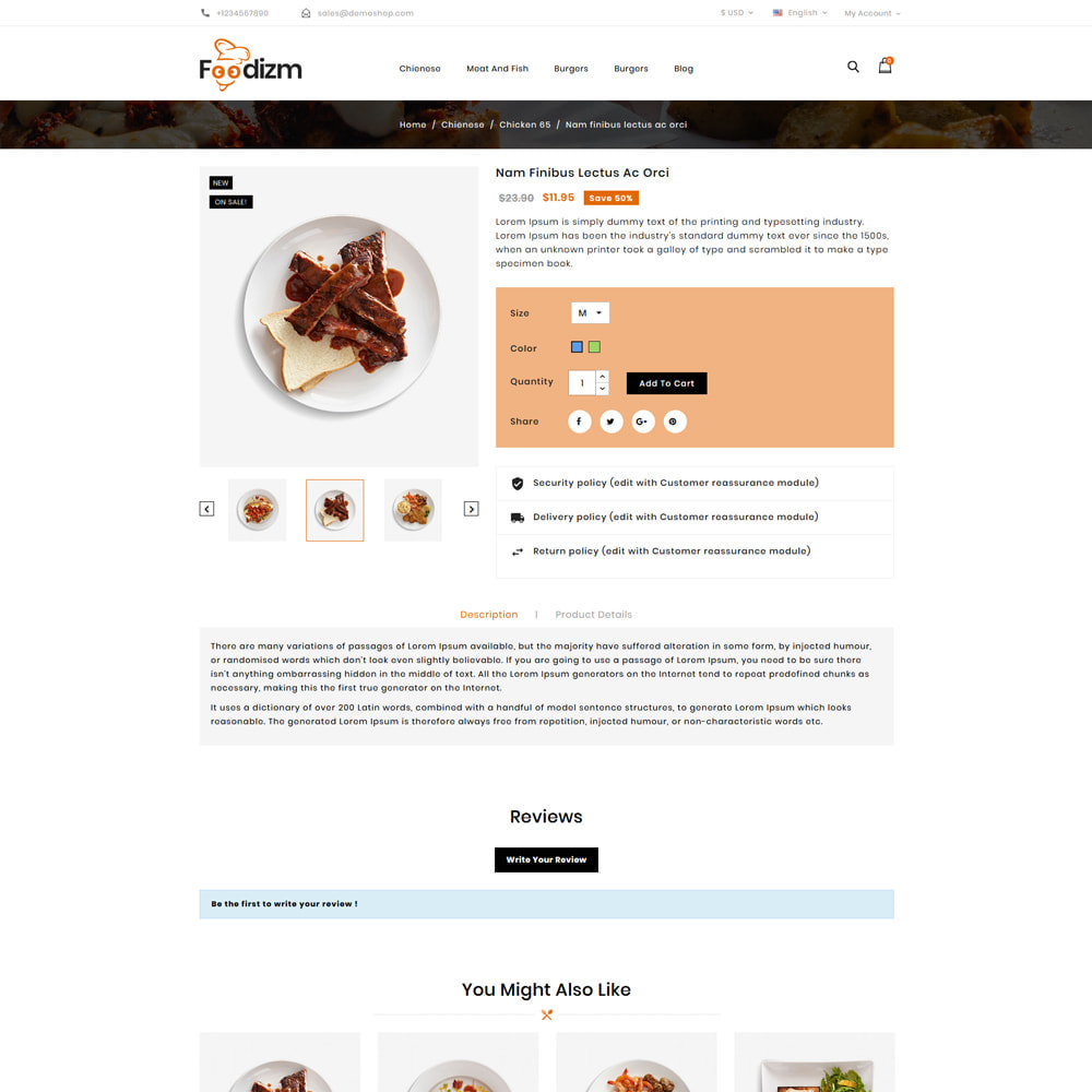 theme - Alimentos & Restaurantes - Foodizm - Food Store - 4