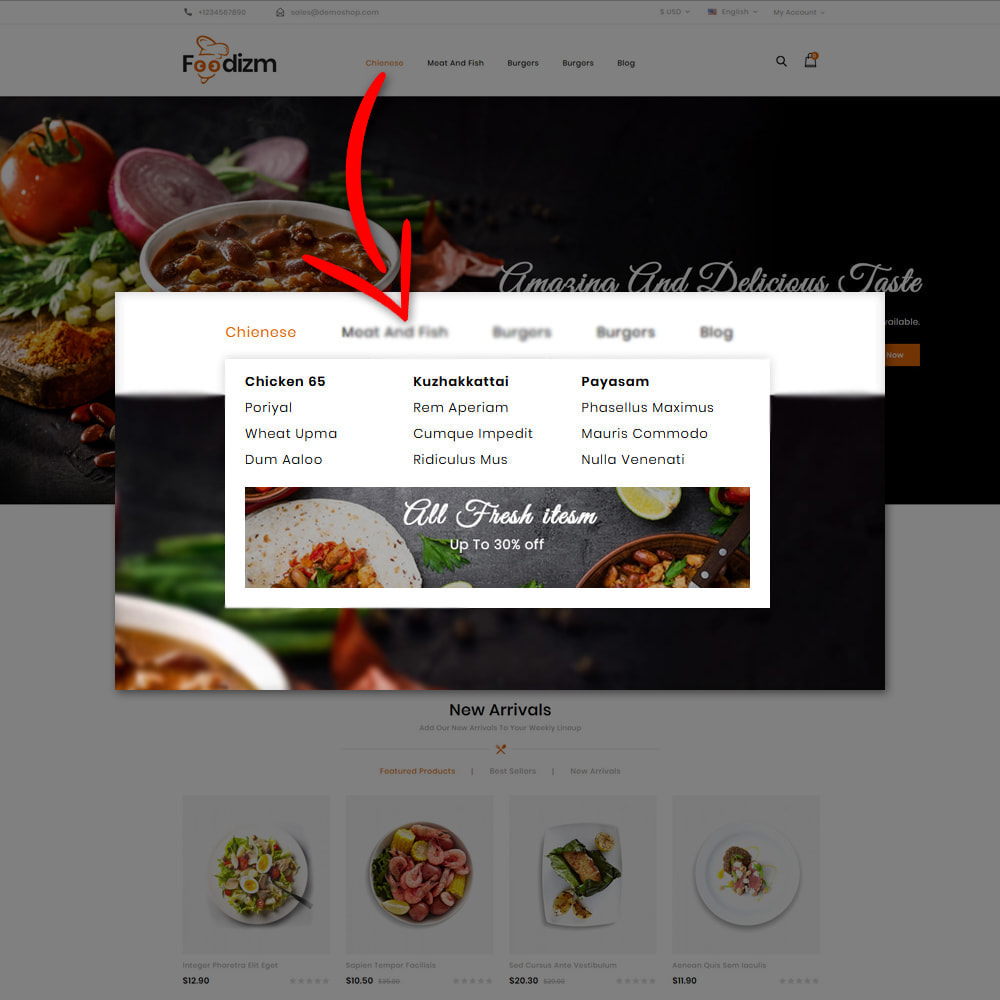 theme - Alimentos & Restaurantes - Foodizm - Food Store - 8