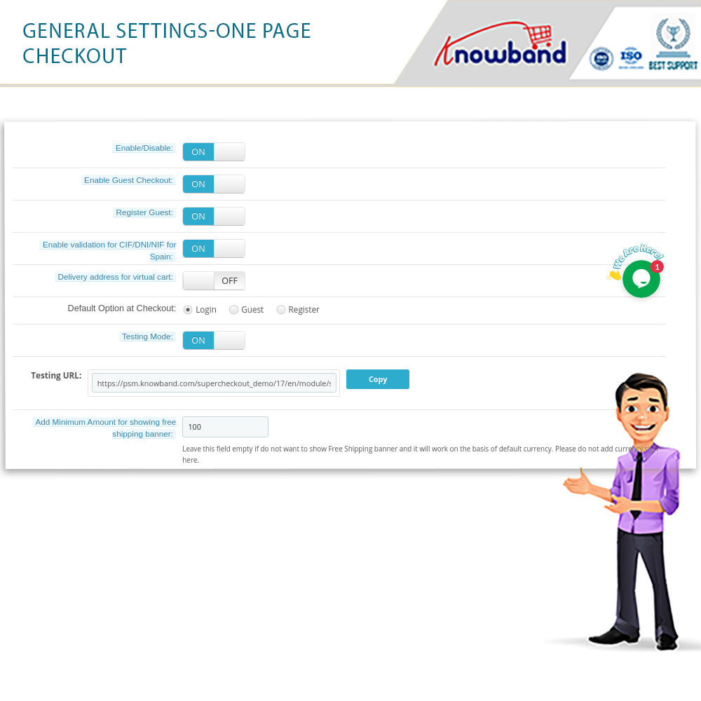 module - Express Checkout Process - One Page Checkout, Social Login & Mailchimp - 26