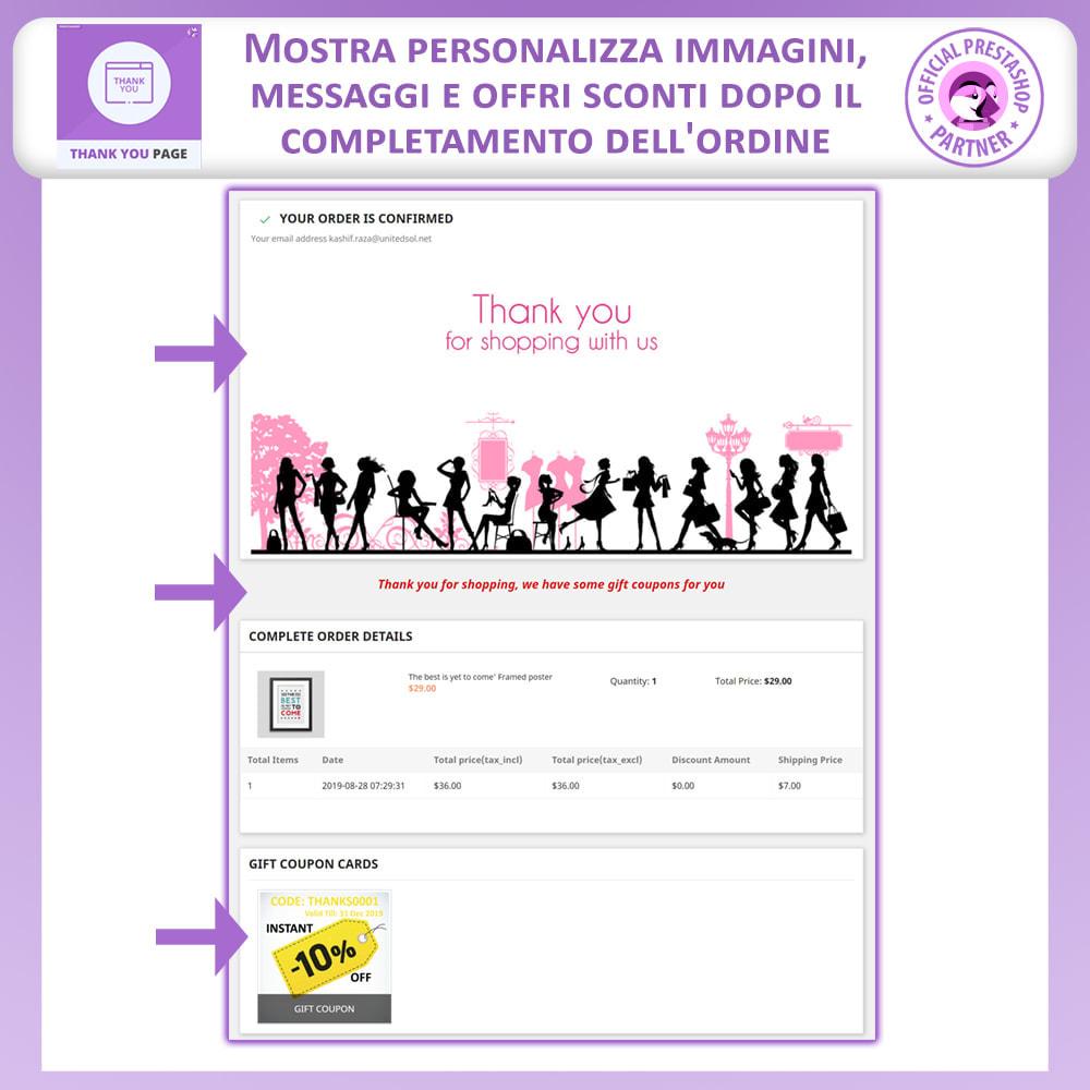 module - Promozioni & Regali - Pagina Di Ringraziamento Anticipata - 3