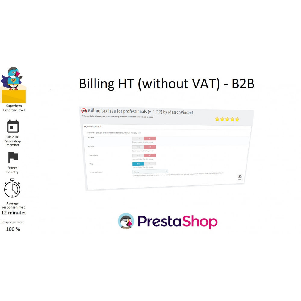 module - B2B - Billing HT (without VAT) - B2B - 1