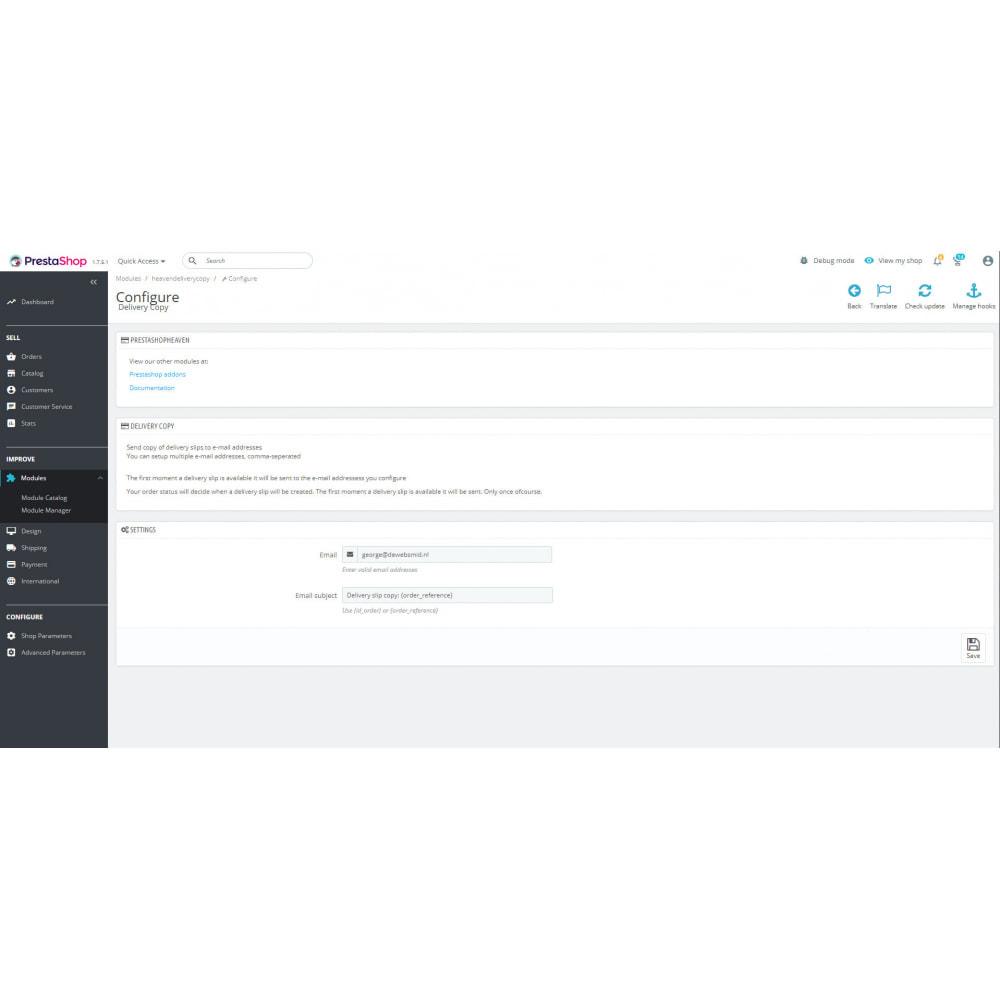 module - Contabilità & Fatturazione - Delivery slip pdf e-mail copy - 3