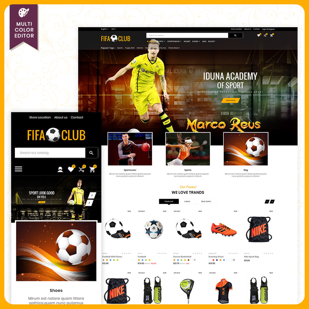 theme - Sport, Loisirs & Voyage - Fifa Club – Sports and Accessories Store - 1