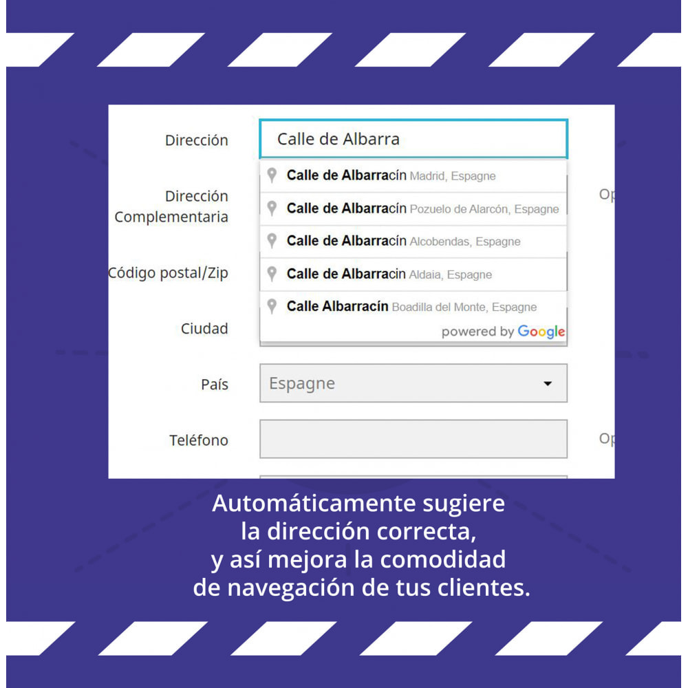 module - Inscripción y Proceso del pedido - Google Address Autocomplete - 1