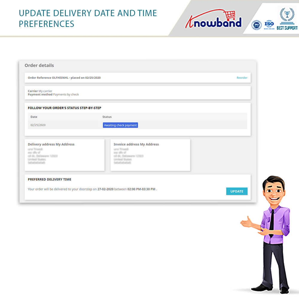 module - Leverdatum - Knowband - Preferred Delivery Time - 8