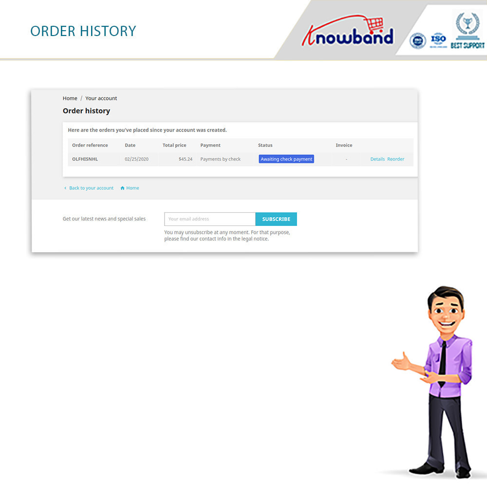 module - Date de livraison - Knowband - Horaire de Livraison Préféré - 5