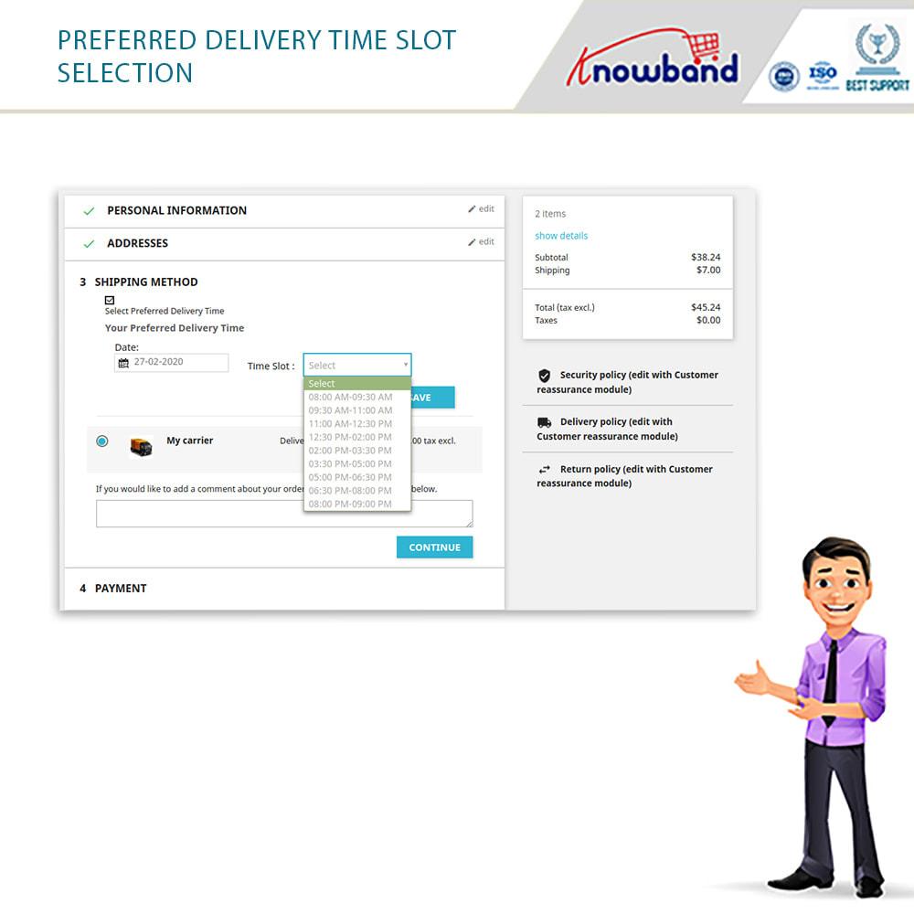 module - Fecha de entrega - Knowband - Tiempo de Entrega Preferido - 9
