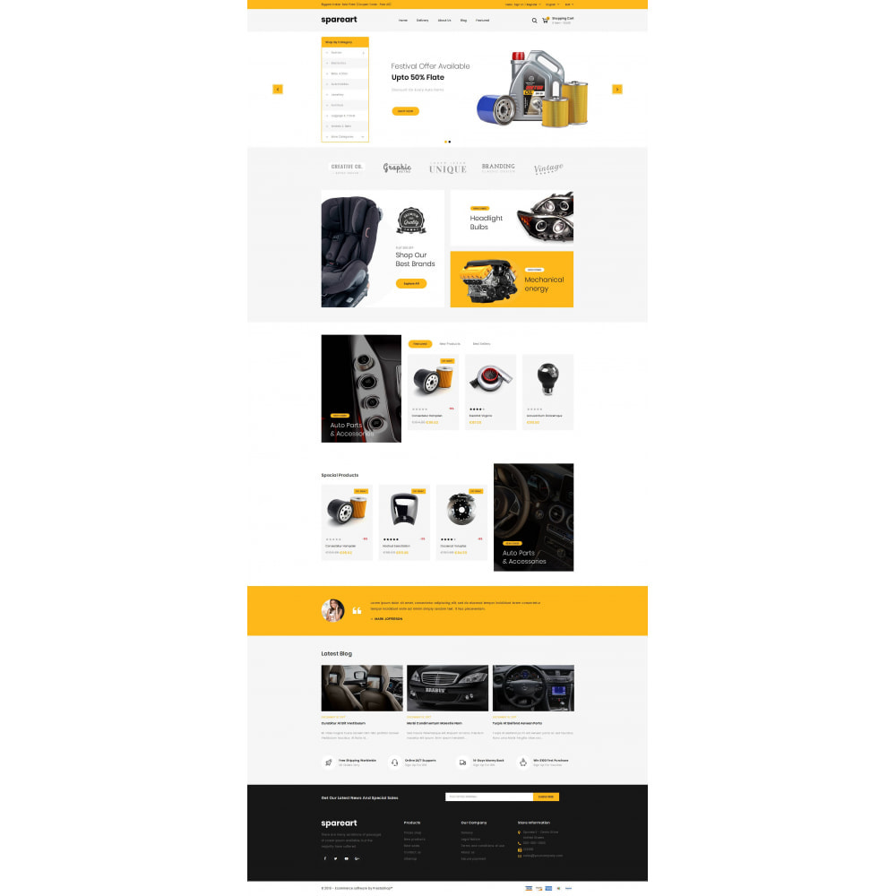 theme - Automotive & Cars - Sparearts - Automobile Store - 2