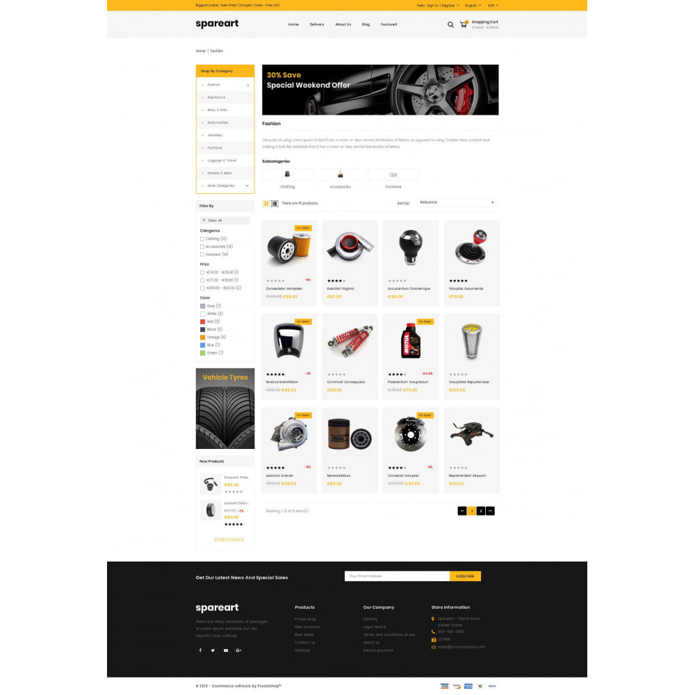 theme - Automotive & Cars - Sparearts - Automobile Store - 3