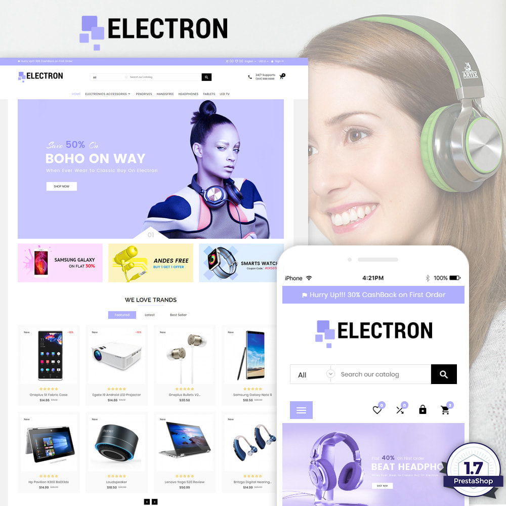 theme - Electrónica e High Tech - Electron – Electronics and Digital Super Store - 1