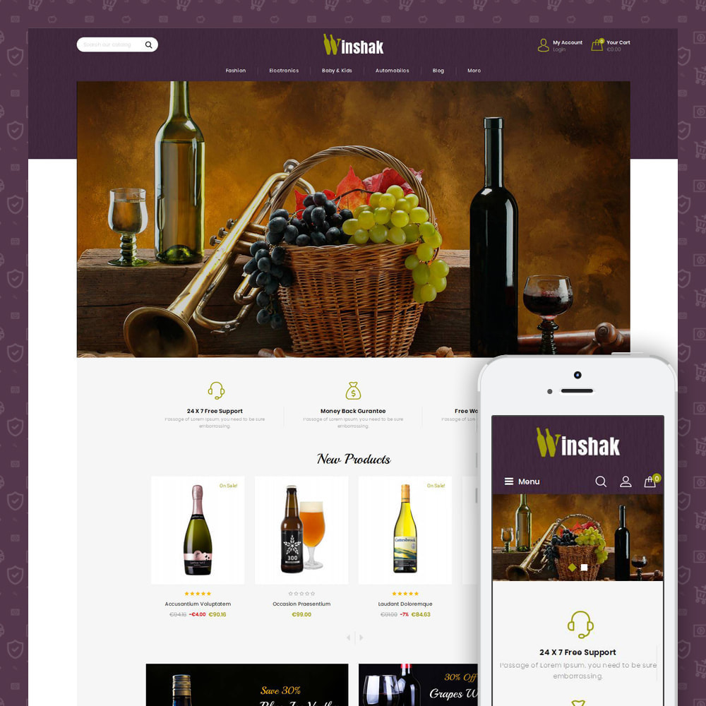 theme - Drink & Tobacco - Winshak - Wine Store - 1