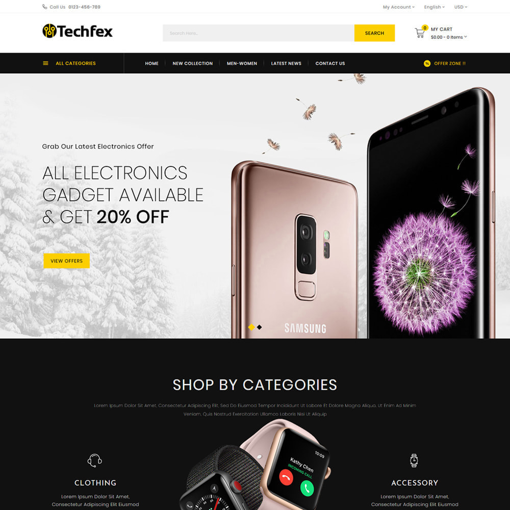 theme - Elektronika & High Tech - Techfex - Digital Store - 2
