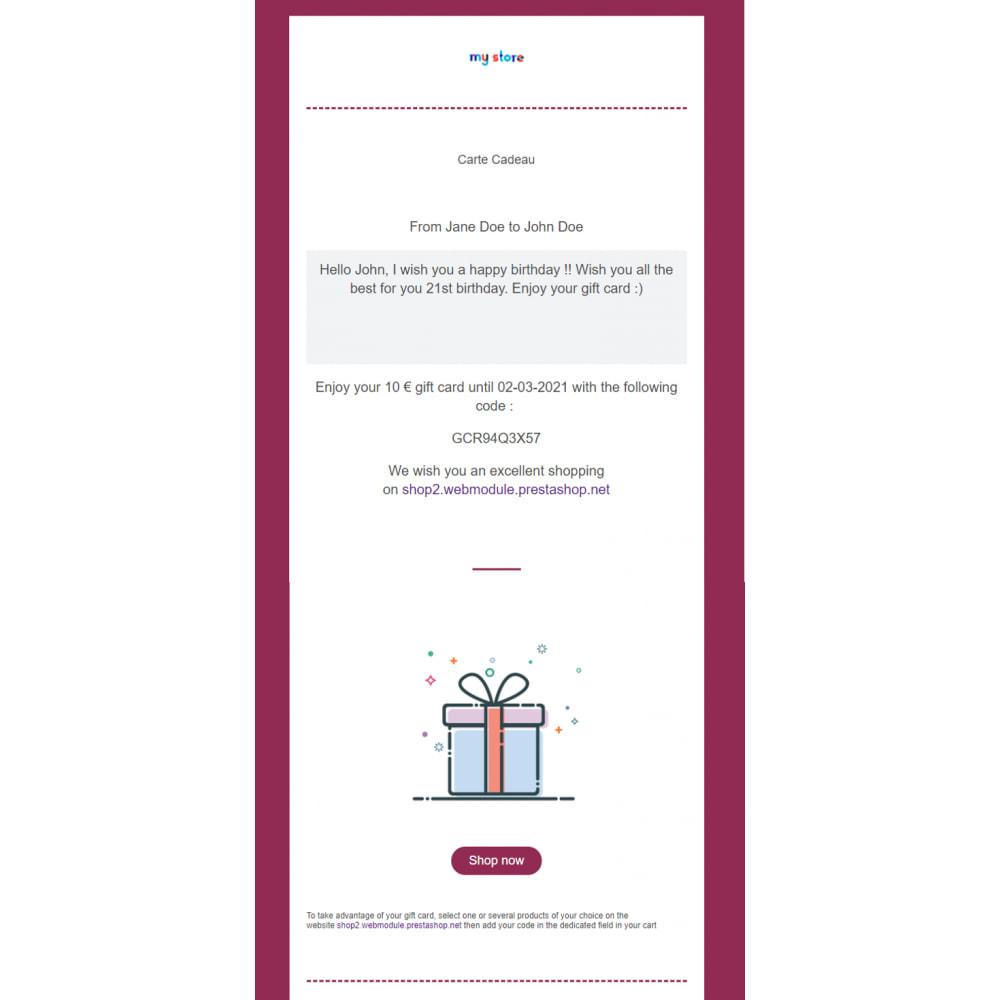 module - Lista życzeń & Karta podarunkowa - Bon Podarunkowy Premium 1.6 - 1.7 - 4