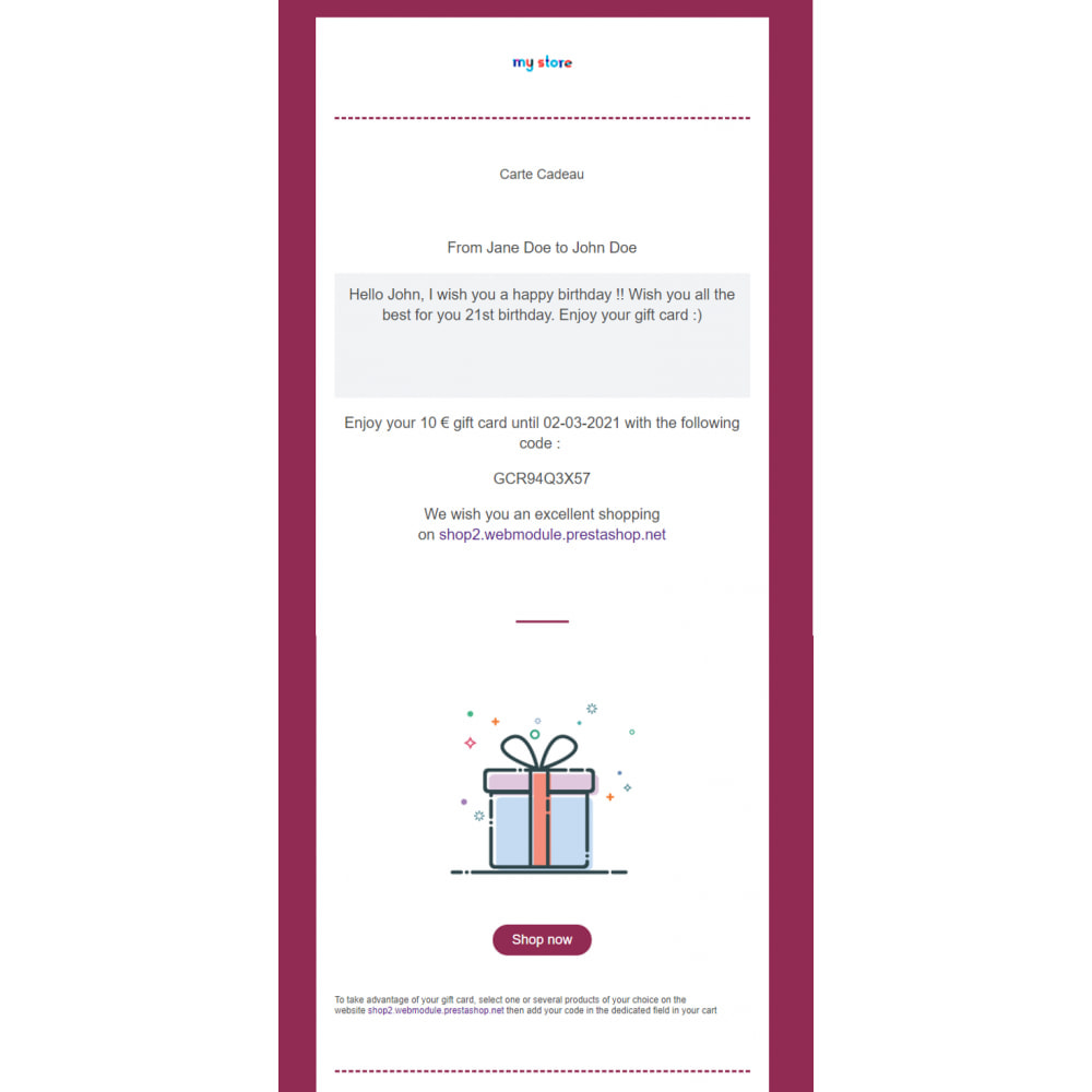 module - Whishlist & Gift Card - Carta regalo premium 1.6 - 1.7 - 4