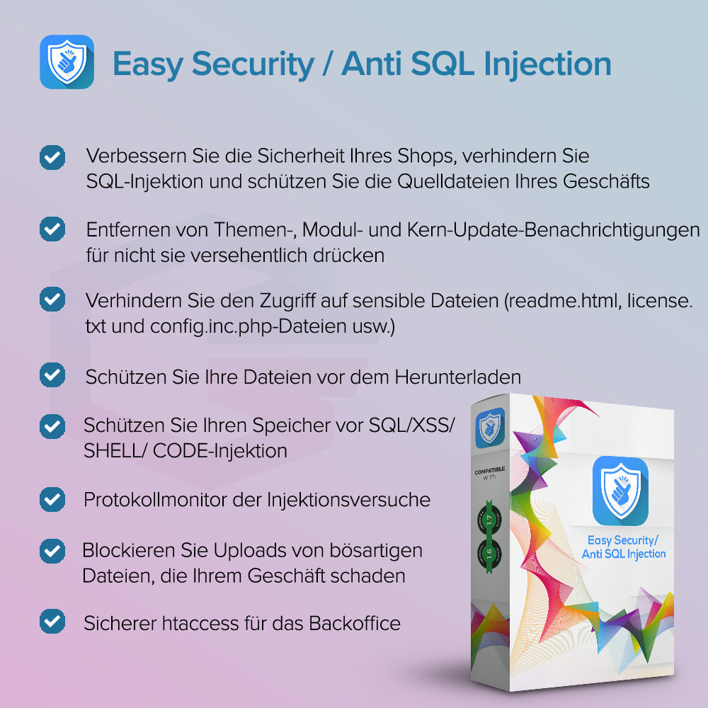 module - Sicherheit & Berechtigungen - Einfache Sicherheit / Anti SQL Injection PRO - 1