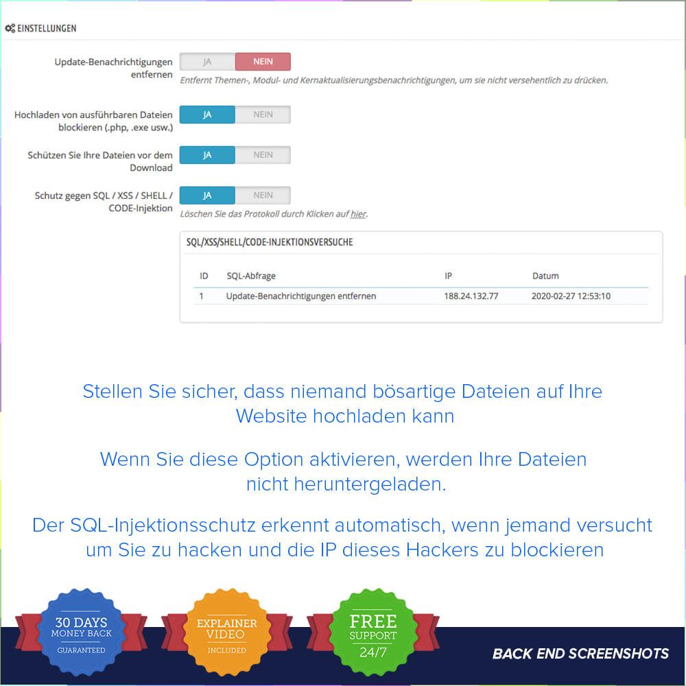 module - Sicherheit & Brechtigungen - Einfache Sicherheit / Anti SQL Injection PRO - 2