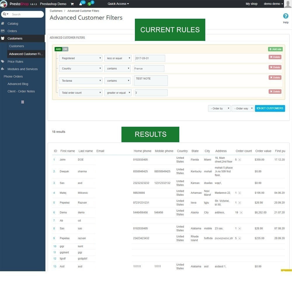 module - Gestion des clients - Rapports de vente, statistiques et champs personnalisés - 5