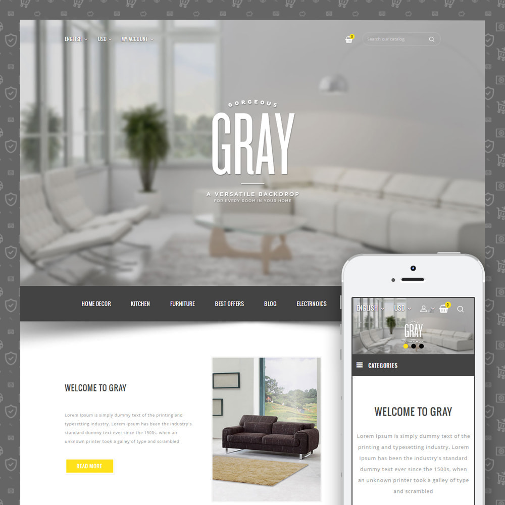 theme - Dom & Ogród - Gray Furniture Store - 1