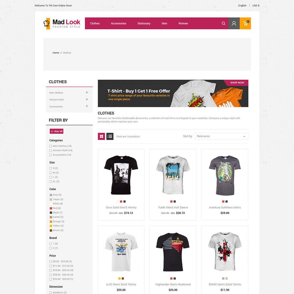 theme - Moda y Calzado - Look Tshirt  - Men Fashion Shirt  Store - 2