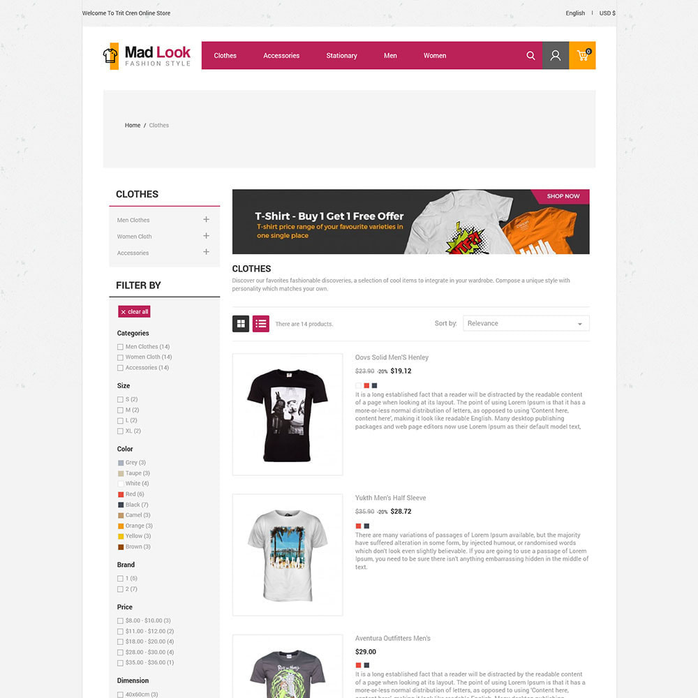 theme - Moda y Calzado - Look Tshirt  - Men Fashion Shirt  Store - 3