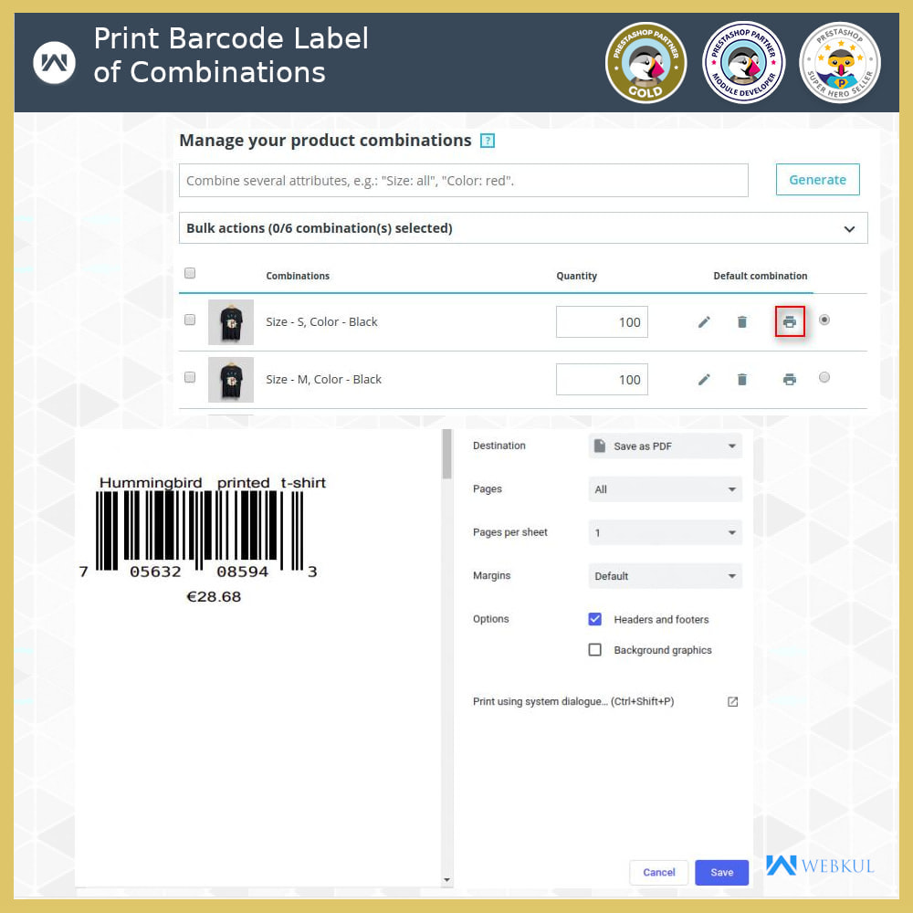 module - Preparation & Shipping - Product Barcode Label | Barcode Generator - 5