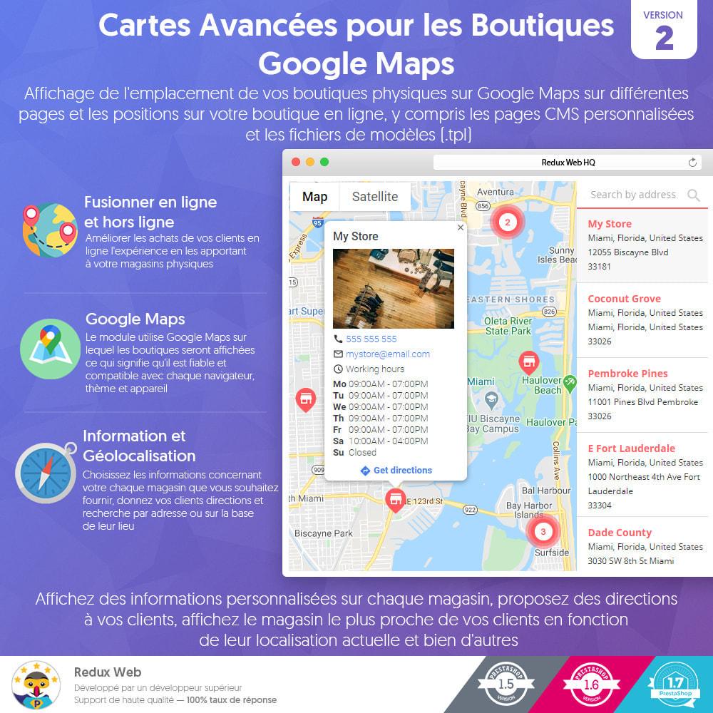 module - International & Localisation - Cartes Avancées pour les Boutiques - Google Maps - 1