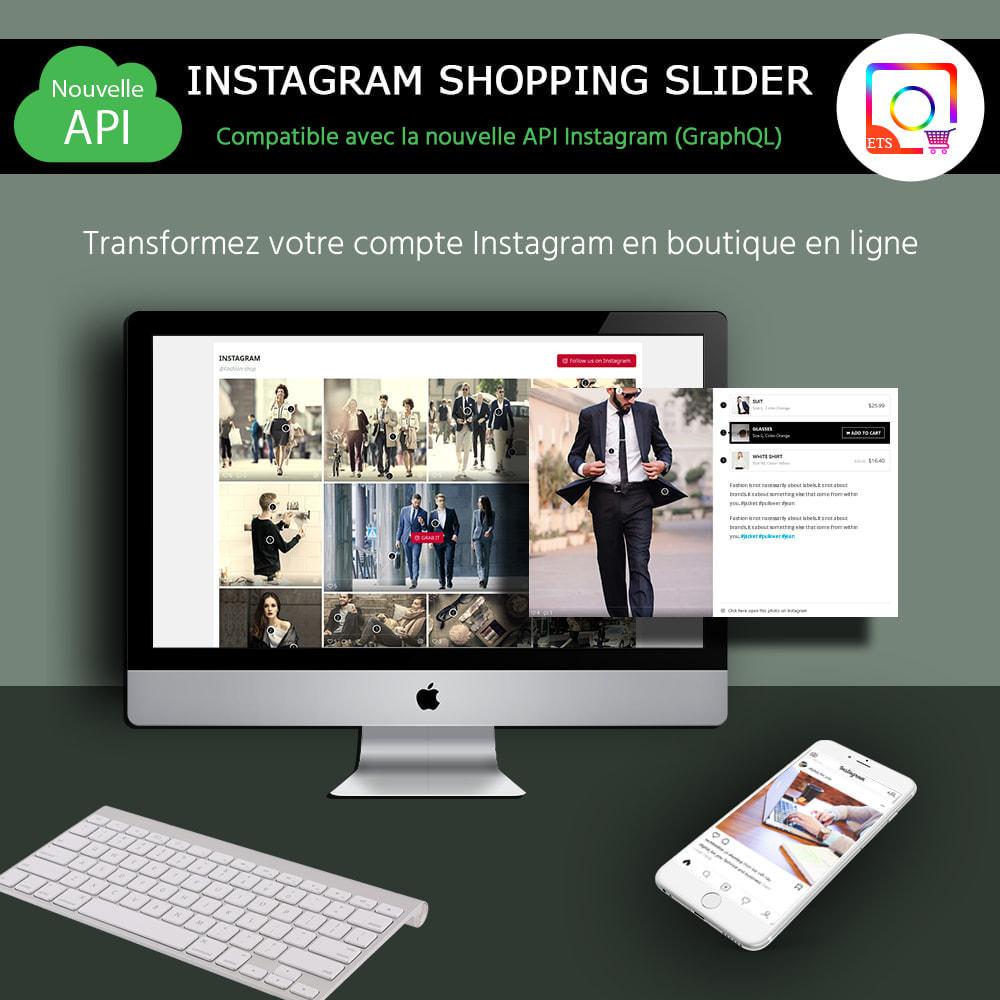 module - Sliders & Galeries - INS Shopping Slider - Intégration de réseau social - 1