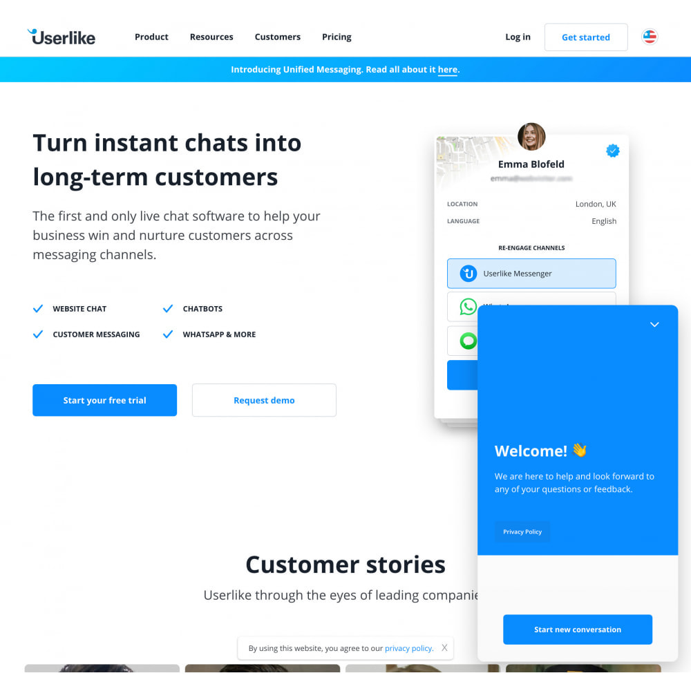 module - Ondersteuning & Online chat - Userlike Live Chat and Messaging with free plan - 3