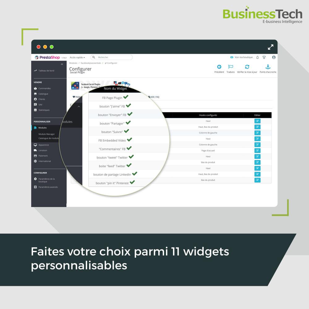 module - Boutons de Partage & Commentaires - Social Plugins - 2