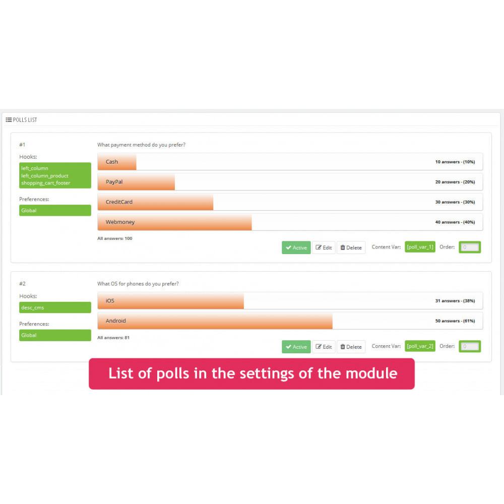 module - Форма обратной связи и Опросы - Опросы в любом месте - 4