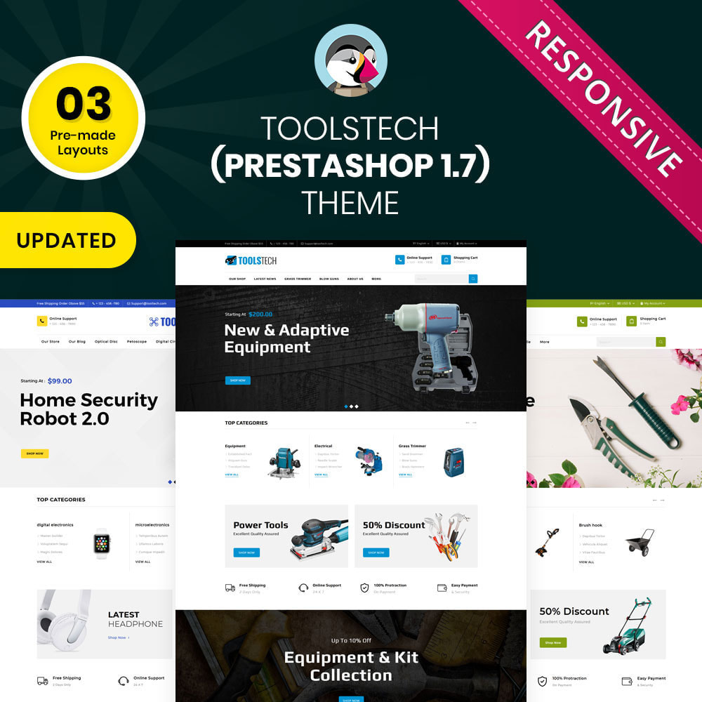 theme - Eletrônicos & High Tech - ToolTech - The Tool Store - 1