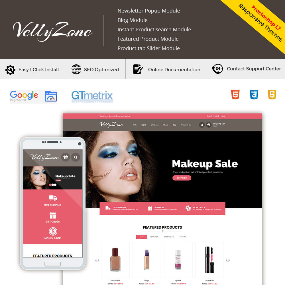 theme - Salute & Bellezza - Makeup Cosmetics  - Perfumes  Accessories Store - 1