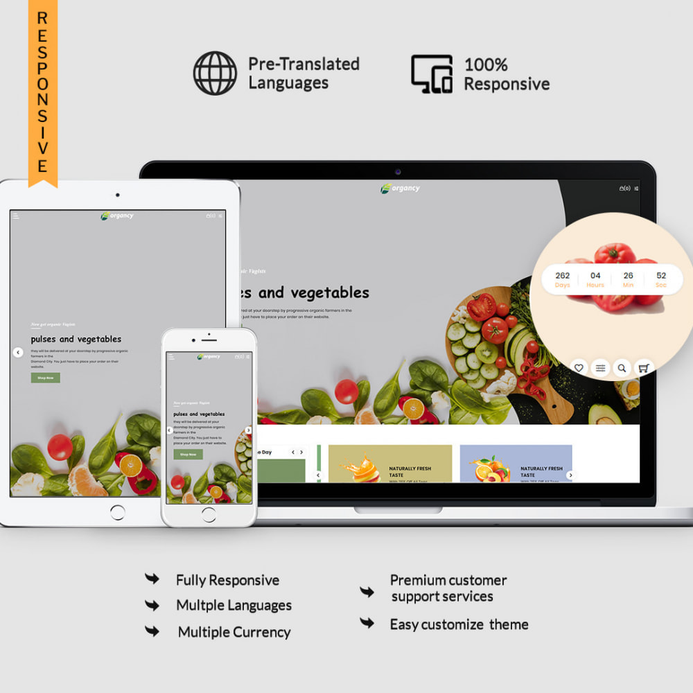 theme - Eten & Restaurant - Organcy - The Organic & Foods Store - 1