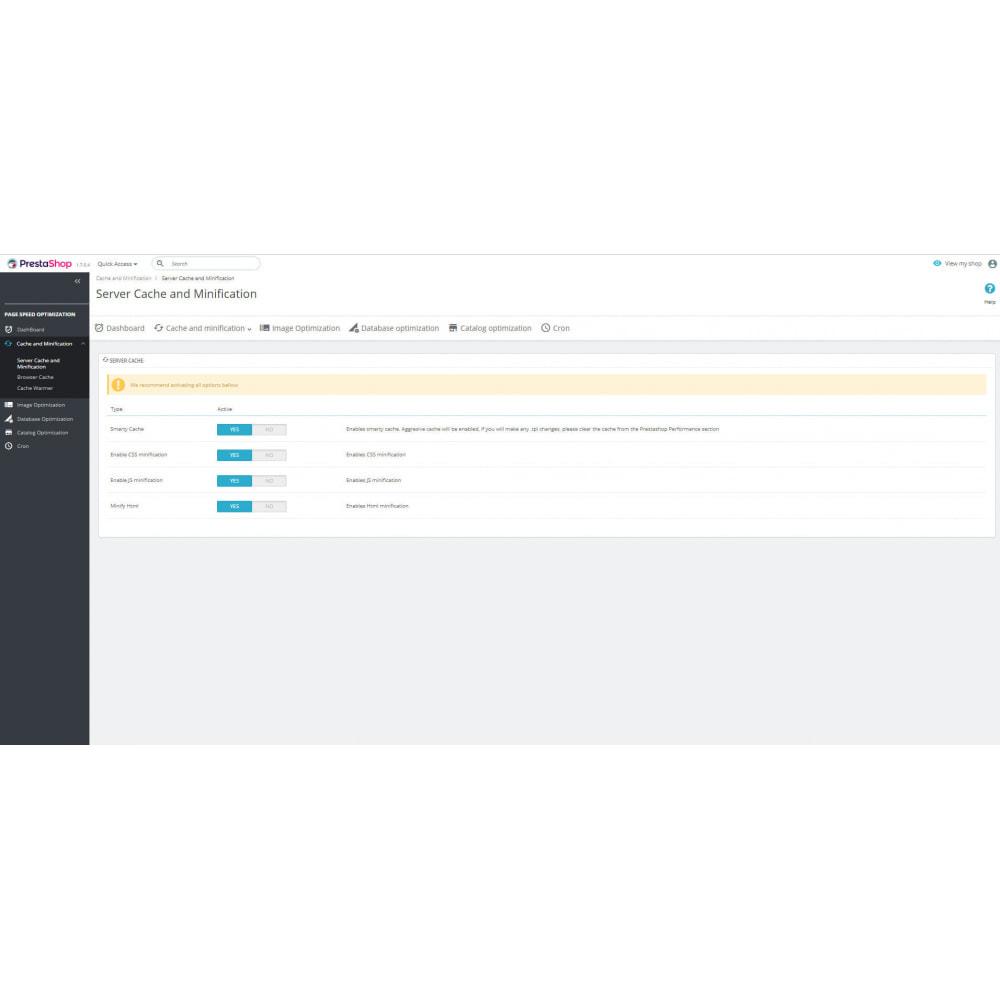 module - Desempenho do Site - Page Cache & Image WebP - Google Insights & GTmetrix - 9