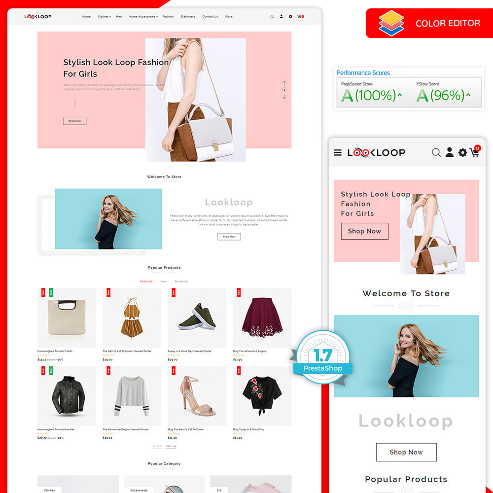 theme - Moda & Calçados - LookLoop - Fashion & Lifestyle Store For Women & Men - 1