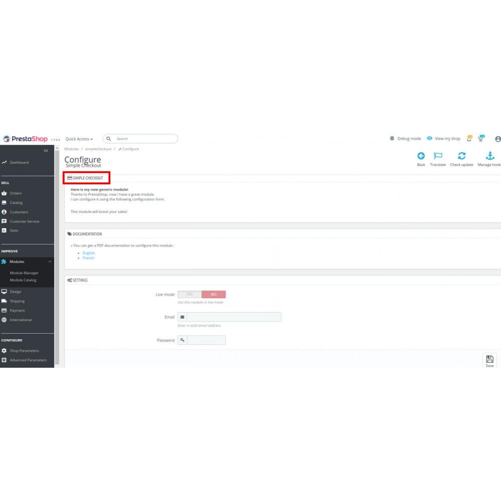 module - Processus rapide de commande - Simple Checkout - 5
