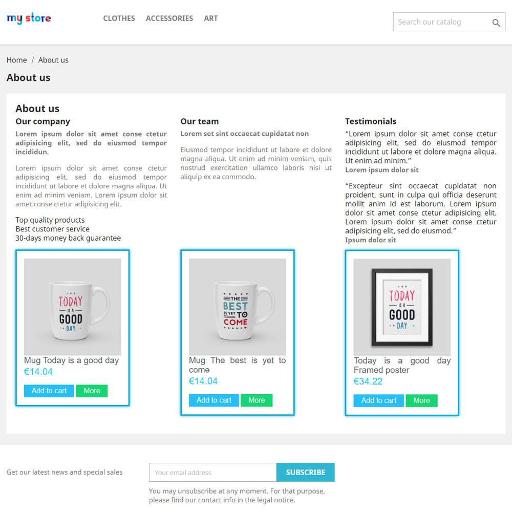module - Productos en la página de inicio - Productos en las páginas CMS - 2