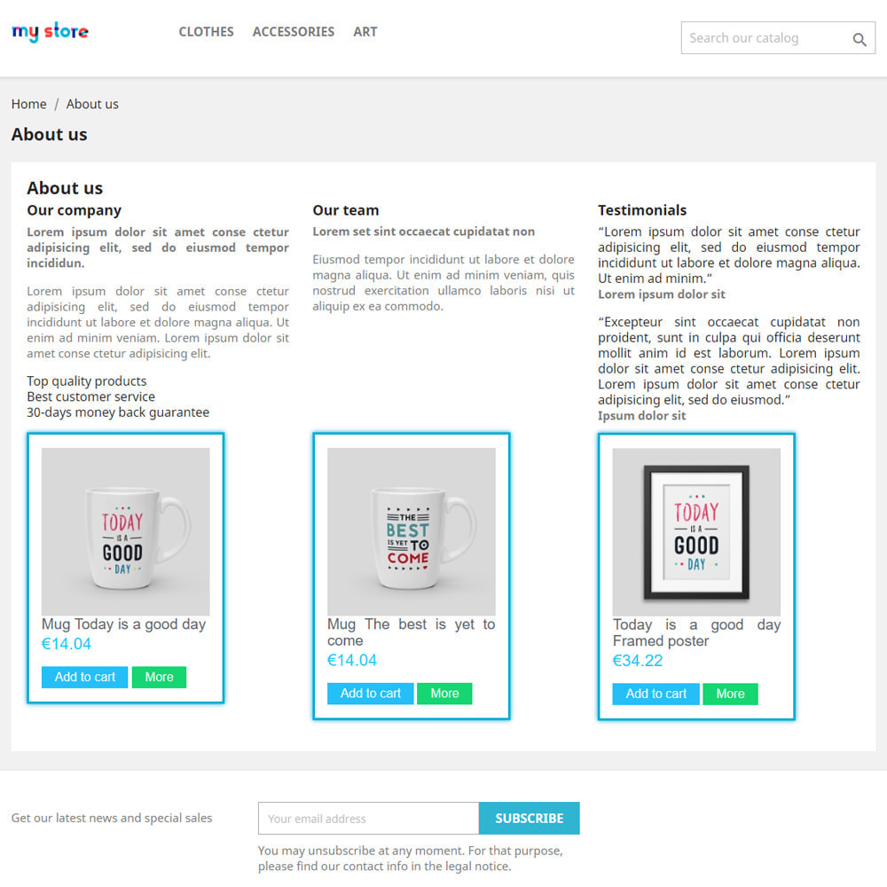module - Zarządzanie produktami na stronie głównej - Produkty na stronach CMS - 2