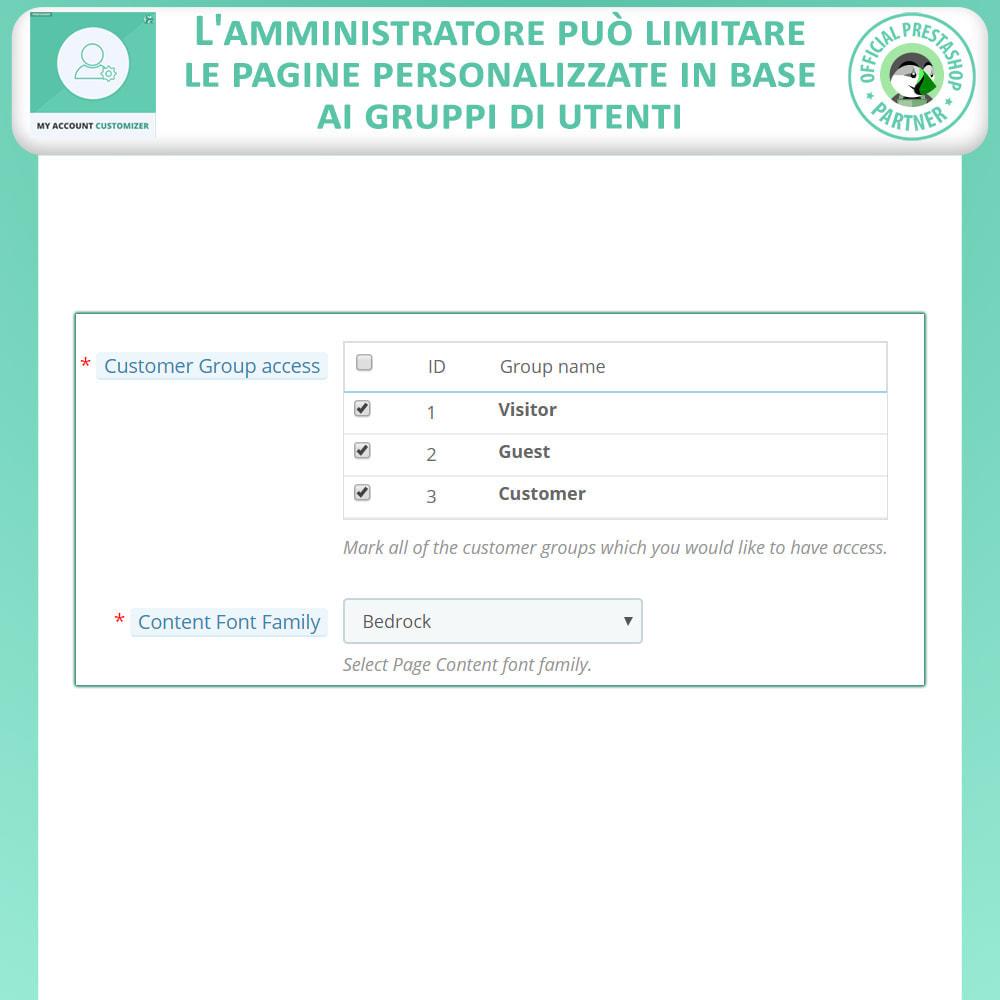 module - Amministrazione - Il Mio Account Customizer - 4