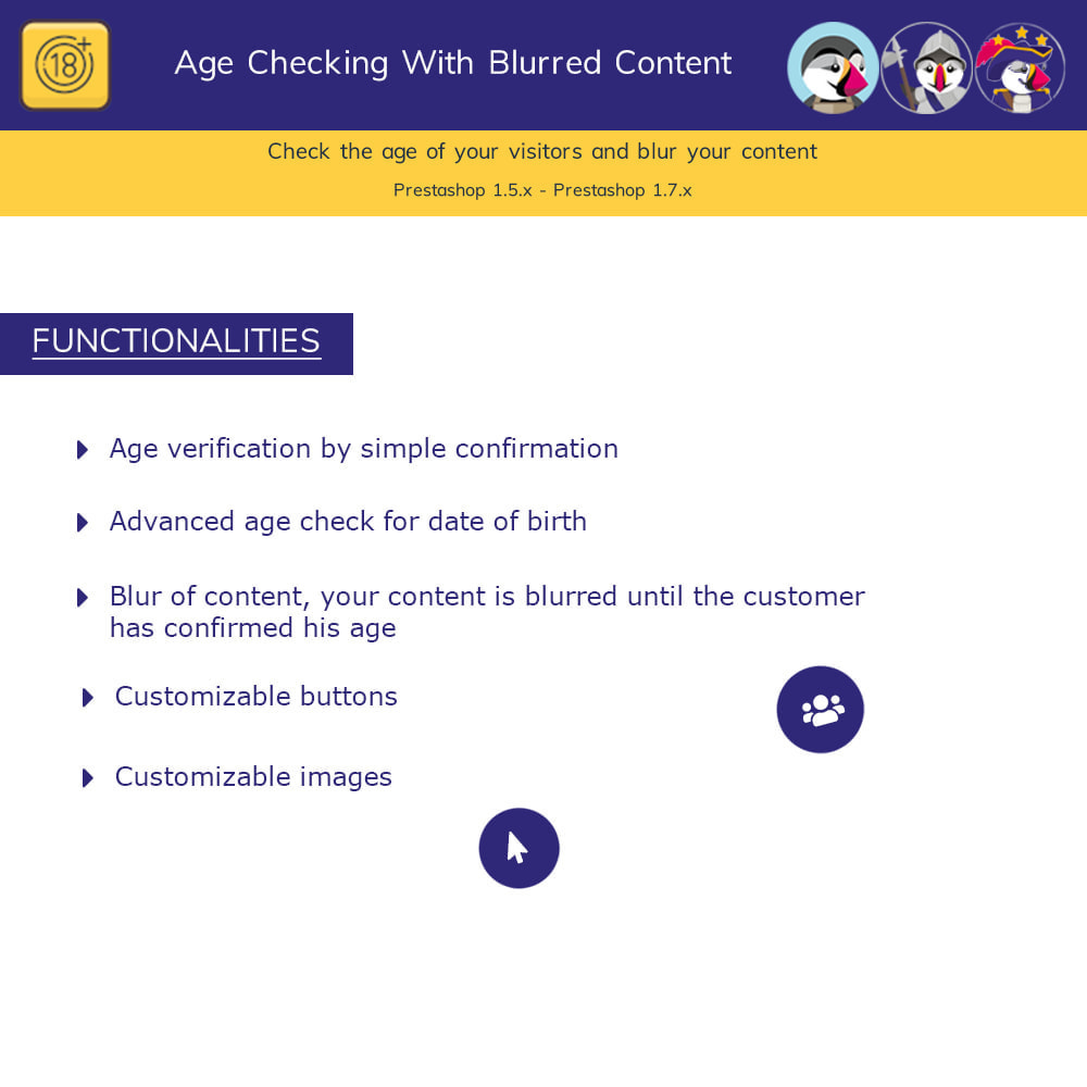 module - Security & Access - Age Checking For Regulated Content - Blur Content Pro - 1