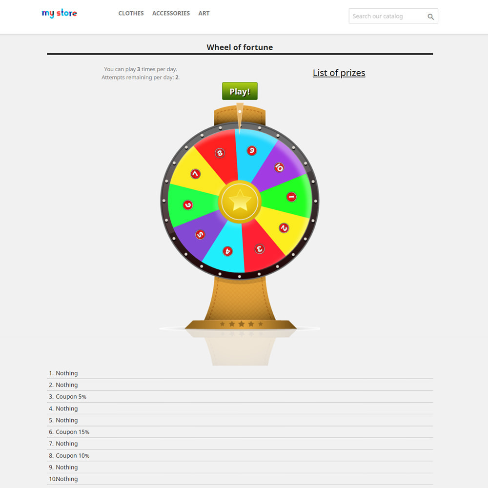 module - Wedstrijden - Wheel of Fortune, discounts and gifts to customers - 3